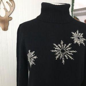 Togo Wool/Rabbit Hair Snowflake Sweater ❤️